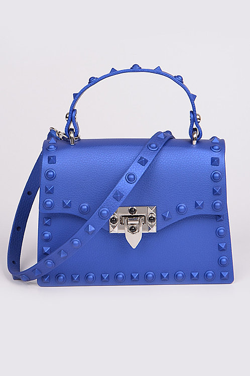 Royalty Blue Studded Bag