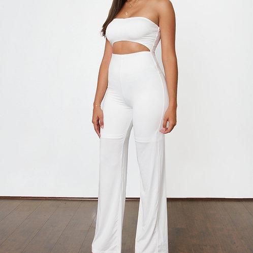 White Cut-Out Jumpsuit