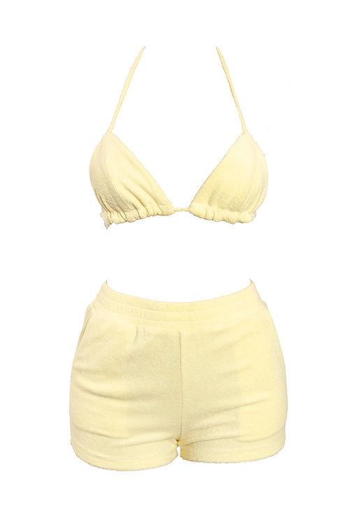 Lemon Bikini Short Set
