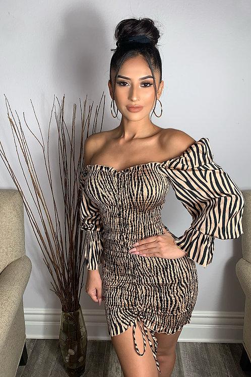 Beige Elara Dress