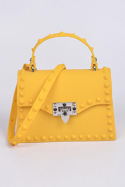 Royalty Yellow Studded Bag