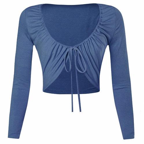 Blue Cheryl Long Sleeve Top