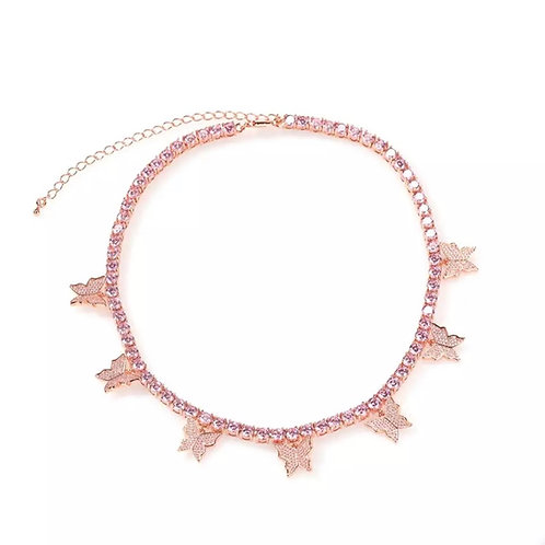Butterly Queen Choker in Rose Gold