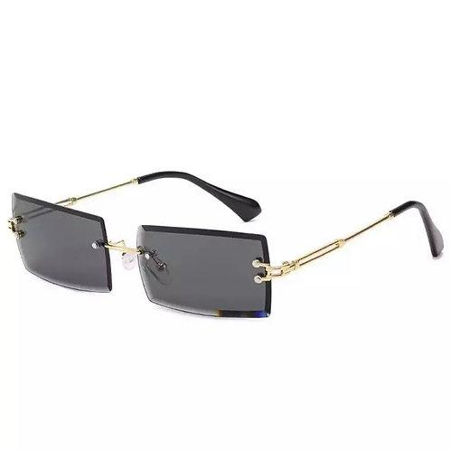 Full Gray Rimless Glasses