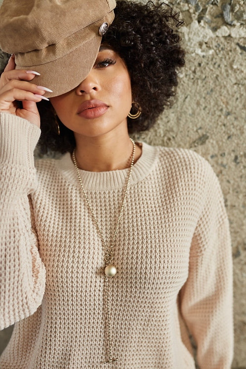 Pearled Ivory Sweater