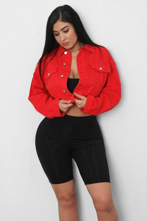 Red Jean Jacket