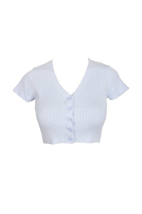 Baby Blue Knit Crop Top