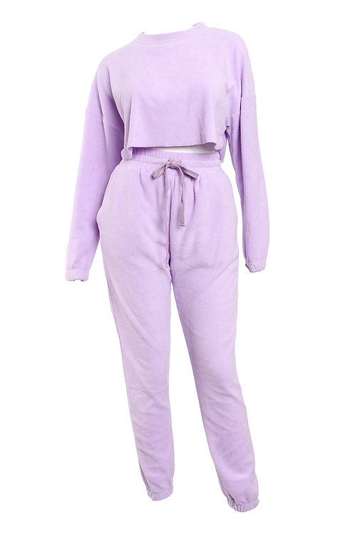 Fleece Lavender Teddy Set