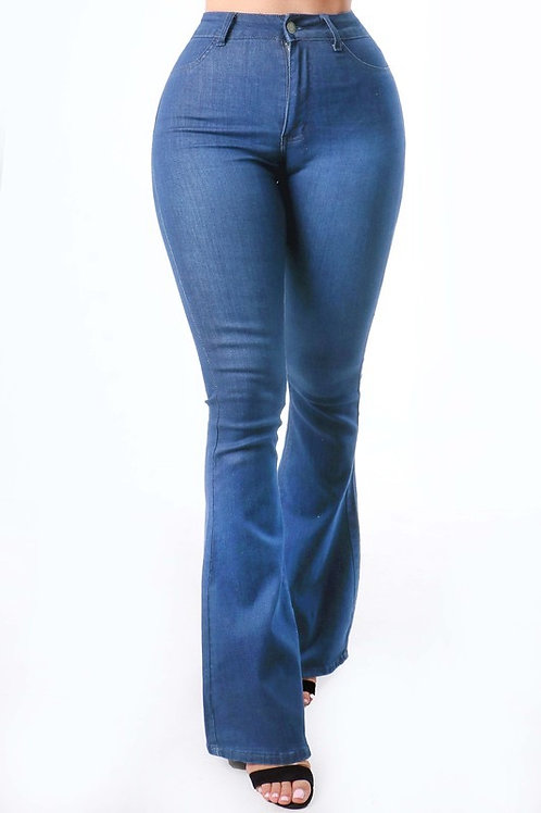 High Waisted Bell Bottom Jean