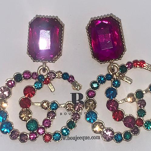 GG Inspired Rainbow Earrings