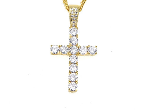 Iced Out Gold Cross