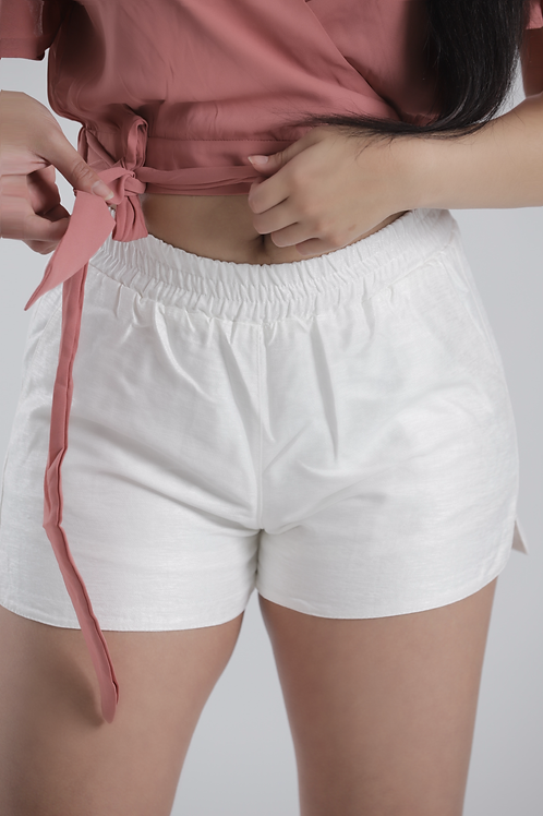 White Beach Shorts