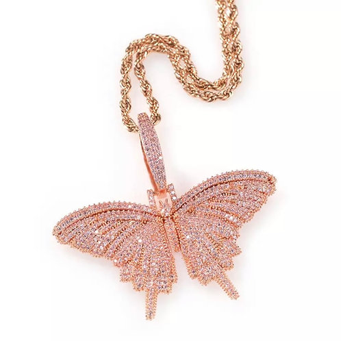 Mystical Rose Gold Butterfly