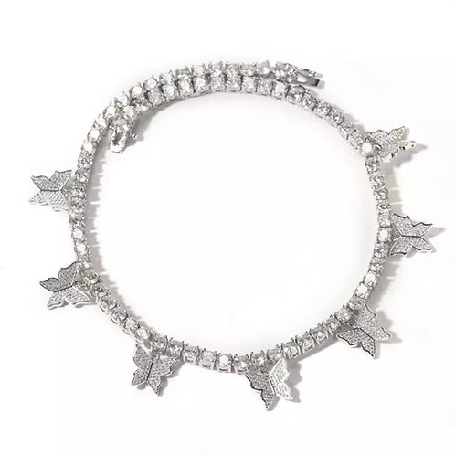 Butterfly Queen Choker in Silver