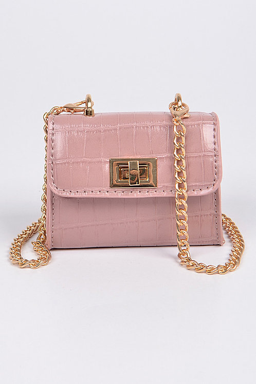 Mini Pink Cross Chain Body Clutch