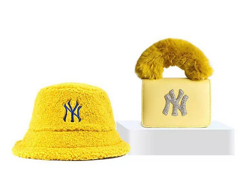 Yellow NY Bucket Hat