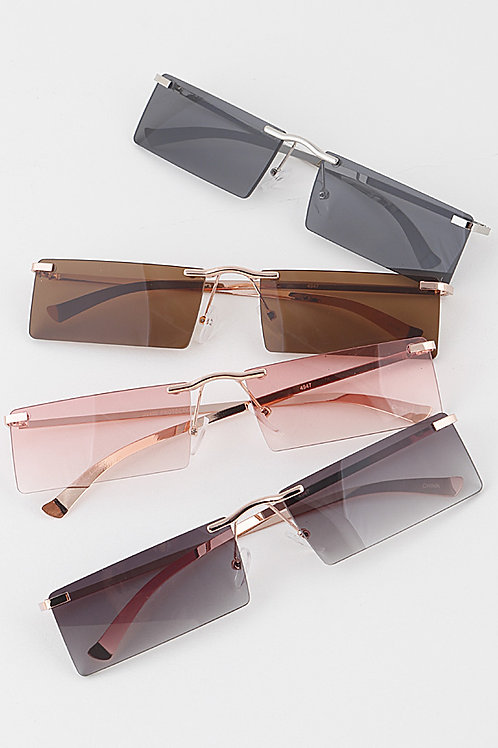 Full Rectangle Rimless Glasses