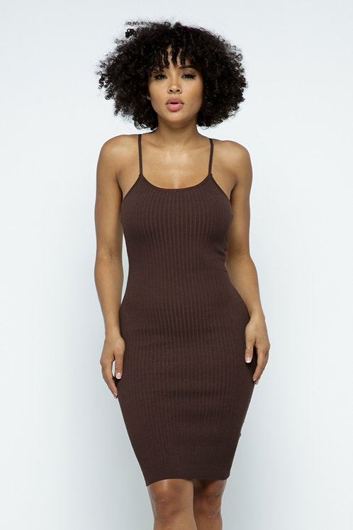 Mocha Body String Knit Dress