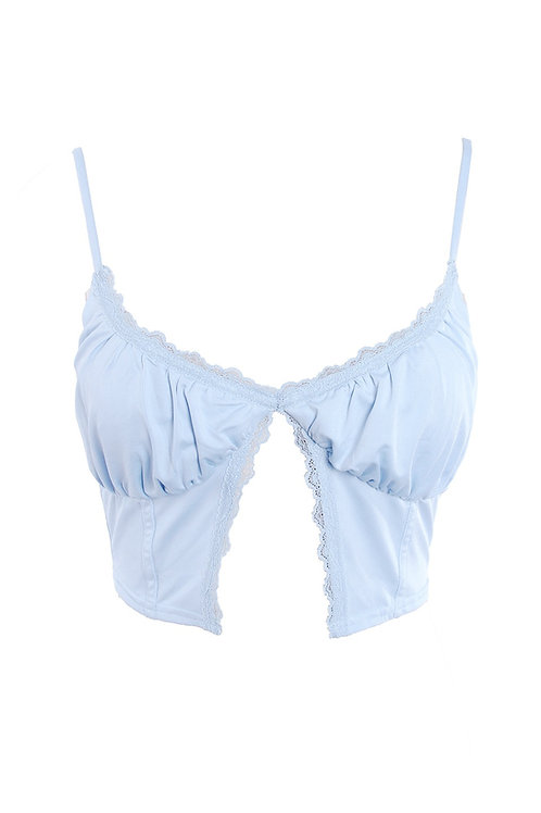 Baby Blue Rose Babe Top