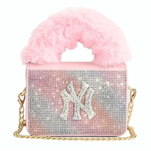 Pink Sparkly NY Purse