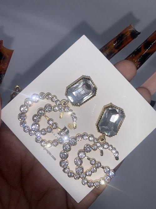 GG Inspired Silver Earrings