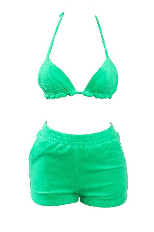 Green Bikini Short Set