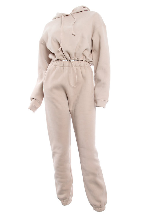 Taupe Drizzi Pull over SweatPant Set