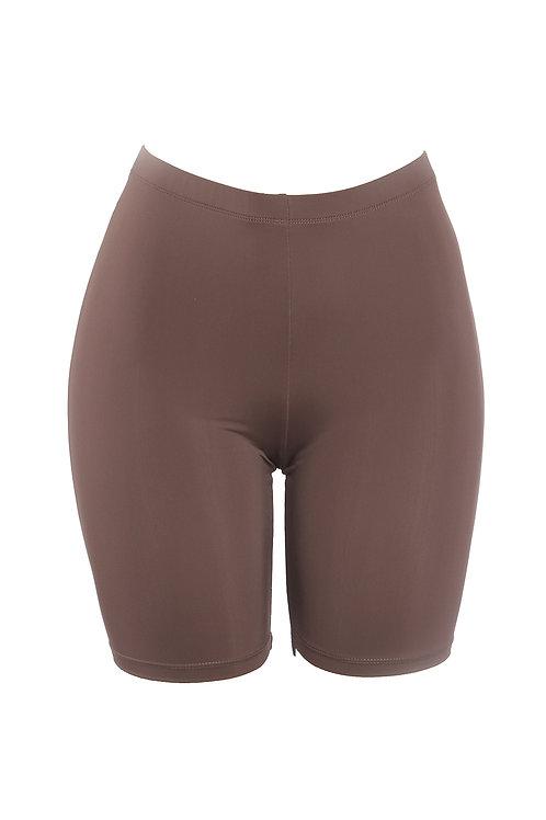 Mocha Baddie Biker Shorts