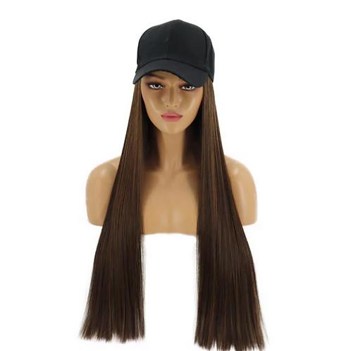 Dark Brown Hat Wig