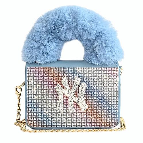 Blue Sparkly NY Purse