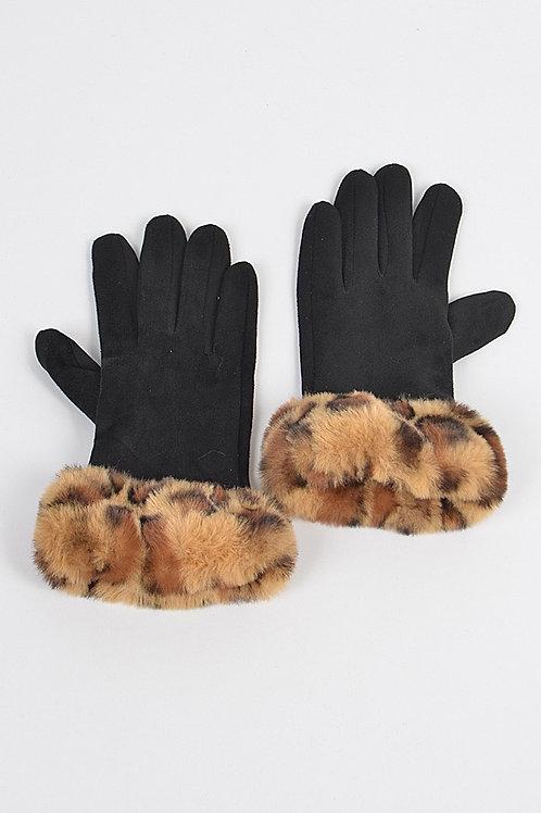 Cheetah Fur Gloves