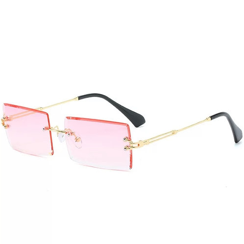Gradient Pink Rimless Glasses