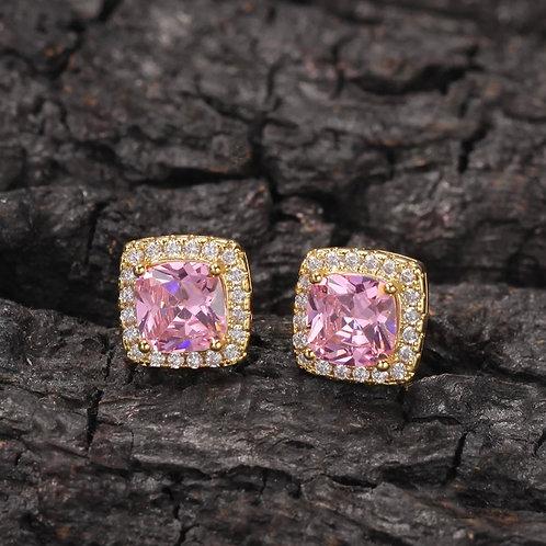 Pink Gold Royal Earrings