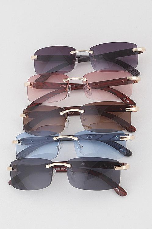 Full Rectangular Rimless Glasses