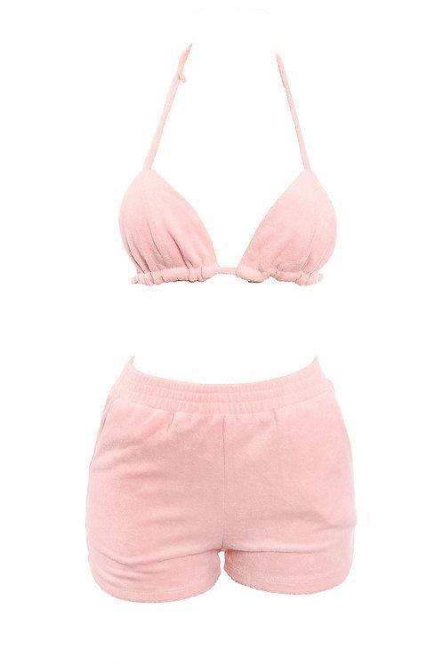 Pink Bikini Short Set