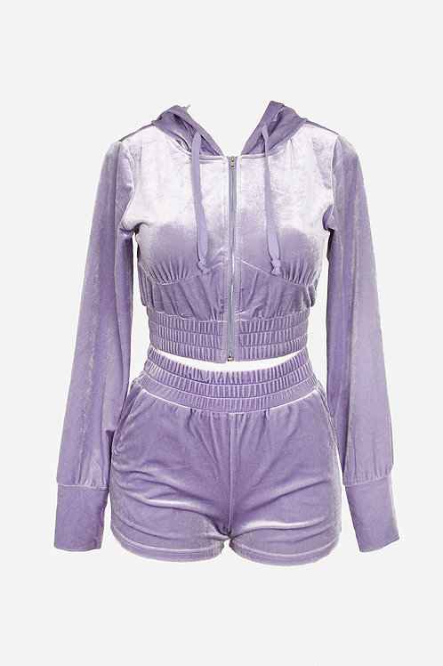 Lavender Velour Lyha Set