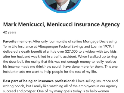 Mark Menicucci Recognized as 40/40 Insurance Professional