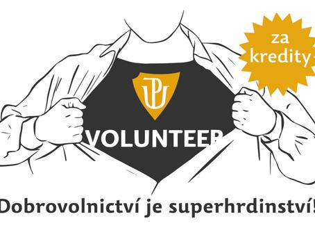 Dobrovolnictví je superhrdinství. Pomáhejte také a získejte kreditové ohodnocení!