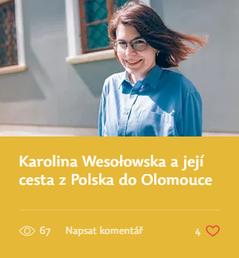 Karolina Wesołowska a její cesta z Polska do Olomouce