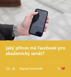 Jaký přínos má Facebook pro akademický senát?