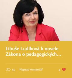 Libuše Ludíková k novele Zákona o pedagogických pracovnících