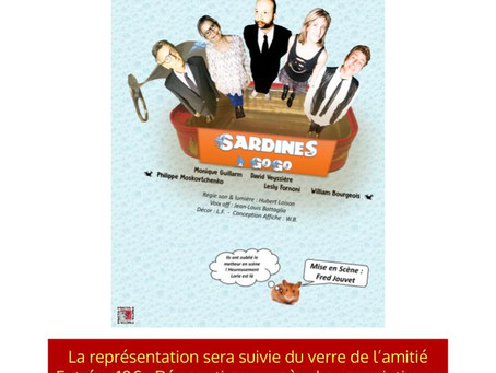 Théâtre 'Sardines à Gogo' vendredi 2 mars 14h30