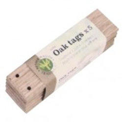 Oak Tags x 5