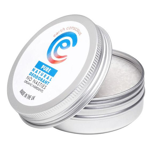 Earth Conscious Natural Deodorant Pure Unscented 60g