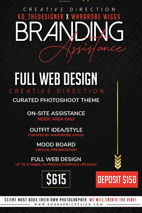 FULL WEB DESIGN with CREATIVE DIRECTION $615