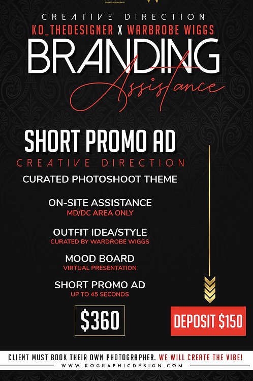 SHORT PROMO AD with CREATIVE DIRECTION $360