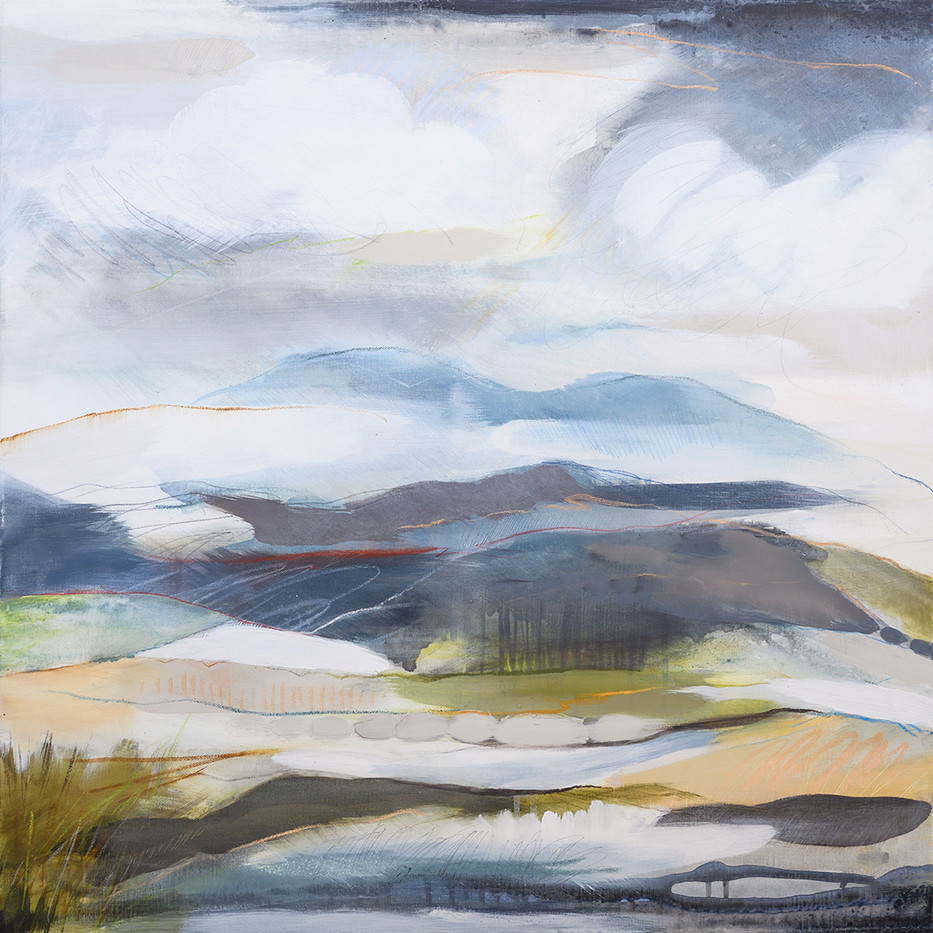 HIGHER II. 2020 80 x 80 cm, acrylic & mixed media on canvas  SOLD
