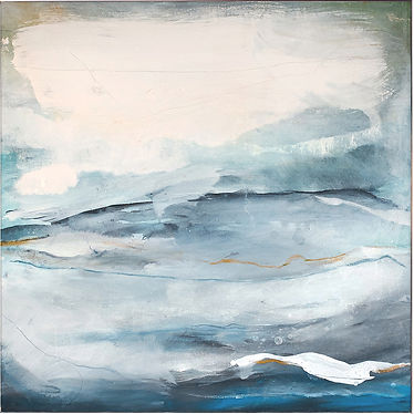 BEYOND THE WAVES. 2018, 72 X 72 cm, SOLD
