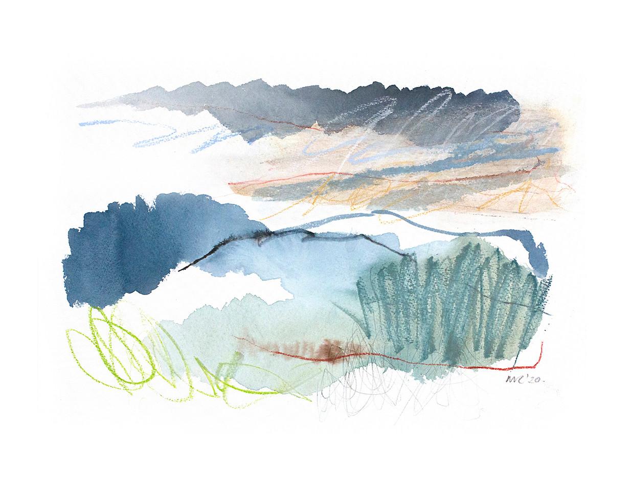WINTER IV. 2020 54 x 42 cm, charcoal, ink & pastel on paper Framed£270, unframed£200
