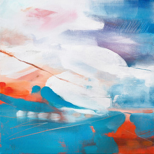 INCOMING. 2021  56 x 56 cm, acrylic & mixed media on canvas